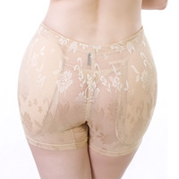Wholesale Thick Lace Leggings - Wholesale- Seamless breathable lace abundant buttocks Sexy fake ass thick padded Women shaping Pants leggings