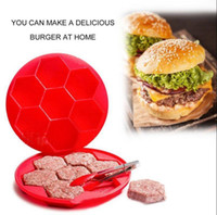 Wholesale innovative kitchen - 7 Hole Silicone Hamburger Cake Mould Innovative Burger Press Mold Hamburger Meat Maker Burger Press Maker Kitchen Tools OOA2843