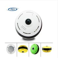 Wholesale Infrared Wireless Color Cmos Camera - New WIFI IP Camera 360 Fisheye Panoramic Dome Camera 1.3MP 960P CCTV Night Vision Video Surveillance Security Three Color