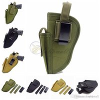 outside magazines - Belt Pistol Holster Tactical Outside Pants Carry Holster Waist Belt Handgun Holster Gun Holster with Magazine Pouch for Most Medium Compact