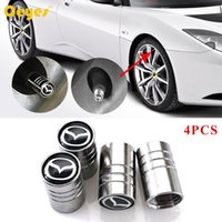 Wholesale Tyre Wheel Cover - Auto Car Wheel Tire Valves Tyre Stem Air Caps Cover Car Emblems for Mazda 3 6 cx-5 2 Car Accessories Styling