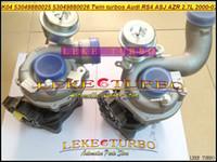 zwillings-turbolader großhandel-K04 025 026 53049880025 + 53049880026 53049700025 + 53049700026 Twin Turbo Turbolader Für AUDI RS4 2000-02 ASJ AZR 2.7L
