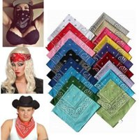 Novedad Paisley Design Bandana Poliéster Algodón Magic Anti-UV Headband Hip Hop Multifuncional Wristband Headscarf CCA6636 10000pcs