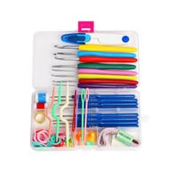 Wholesale Sewing Knitting Supplies - Crochet hooks Needles Stitches knitting Craft Case crochet set in Case Yarn Hook DIY Crafts home supplies ZA2729