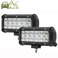 Wholesale Rectangle Offroad Led Lights - XuanBa 7 inch Cree 60W 5D Offroad Led Light Bar For 4x4 Off Road focos 4WD Truck SUV ATV Spot Flood IP68 12V 24V barra led Lamps Work Lights