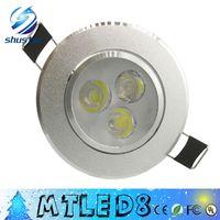 mejor led luces empotradas en el techo al por mayor-El mejor descuento 9W 3X3W LED empotrada en el techo de luz 85-265V bombillas led lámparas downlights 10pcs envío gratis