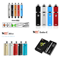 Wholesale Dry Wax Oil Atomizers - Authentic Yocan Evolve-C Evolve-D Evolve Plus Hive Starter Kit Wax Dry Herb Pen Vaporizer With 650 1100mAh Battery Oil Wax Atomizer