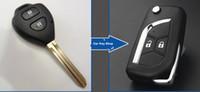 Wholesale Toyota Vios Key Casing - 2014 Uncut Blade Case Modified Flip Remote key Shell 2 Buttons For Toyota Camry Reiz Highlander Yaris RAV4 New Vios Corolla
