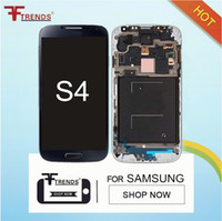 Display LCD para Samsung Galaxy S4 i9500 i9505 I545 I337 M919 L720 R970 i9506 Branco Azul Original LCD Touch Screen Digitizer Frame