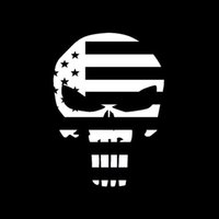 Wholesale Flag Car Decals - Cool Graphics Skull Punisher Usa Flag Funny Vinyl Decal Sticker Car Window Car Stying Funny Jdm 10*15cm