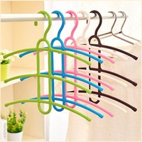 Wholesale Clothing Rack Wholesale - Three Layers Non-slip plastic Drying Racks Fishbone Type Multiple Layers Clothes Pylon Wardrobe Hanging Children's Clothing Hanger Wholesale