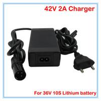 Wholesale 36v Li Ion Battery Charger - 36V 2A Li-ion battery charger Output 42V 2A XLRM port Input 100-240VAC Used for 36V 10S lithium charger