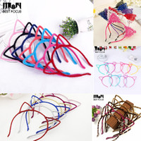 Wholesale Hair Hoops For Girls - MLJY Fashion Furry Cat Ears Headband for Women Girls Devil Cat Head Hoop Fine Hair Ornaments Hair Accessories Headwear Sexy Hair Band 20pcs