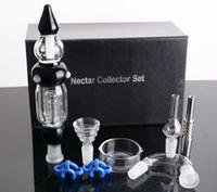 coletor de mel de titânio venda por atacado-Hi-Q Nectar Collector Set 3.0 Atualizado com Titanium Nail Mel Palha Nectar Collector Titanium Tip Frete Grátis