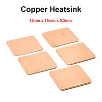 Wholesale Bga Amd - Wholesale- 10pcs lot 15x15x0.3mm DIY Copper Shim Heatsink thermal Pad Cooling for Laptop BGA CPU VGA Chip RAM IC Cooler Heat sink
