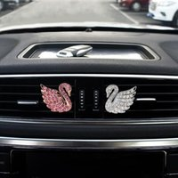 HOT Diamond Car Air Freshener Outlet Swan Clip Différent Fragrance WIZJ