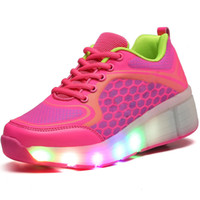 Wholesale Wheel Roller Shoes For Women - New breathable shoes for men Children Casual Shoes Girls Boys Jazzy LED Light Roller Skate Shoes With Wheels Athletic woman kids
