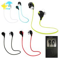 Wholesale Earphones Color Box - In-ear Bluetooth Headphone QCY QY7 4.0 Stereo Earphone Headsets Studio Music Earphone With Mic In Retail Box for iphone6 7 plus note7 s7 edg