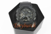Wholesale Multiple Light - #14 full black GA110 Top quality relogio men's sports watches,Luxury brand men LED chronograph wristwatch,all pointers work auto light