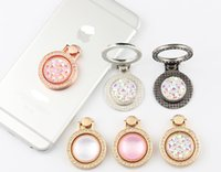 Wholesale Jewels Holder - 2017 new style Diamond-encrusted jewel-bracket mobile phone universal ring holder small pocket watch metal cell phone ring holder ring