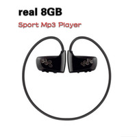 Wholesale Sport Mp3 Player W262 - Wholesale- 2016 Newest W262 real 8GB sport MP3 music player for Running cycling hiking outdoor sports headset mp3 player