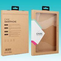 ipad deri perakende paketi toptan satış-Kanca Kraft Kahverengi Kağıt Perakende Kutusu Ambalaj kutuları için iPad 6 Hava2 5 3 4 mini 2 3 4 PU Deri Kılıf