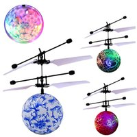 Wholesale Helicopter Toys For Kids - RC Flying Ball Drone Helicopter Ball Built-in Shinning LED Lighting for Kids Teenagers Colorful Flyings great