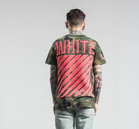 Wholesale Designer Men Casual Shirts - Summer mens t shirts men's slim t-shirt casual camouflage white mens designer clothing t shirts for men