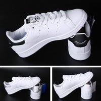 Wholesale Leather Wrestling Shoes - Top quality women men new stan shoes fashion smith sneakers casual leather mens shoes sport running shoes fast shipping size 35-44
