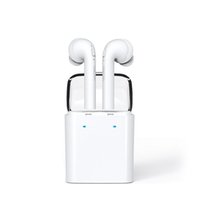 Wholesale Earbud Cases - Dacom 7S Twins Earphone Earbuds For Apple True Wireless Sports Earbud Headset with Portable Charging Case+Mic+Noise Cancellation for iPhone