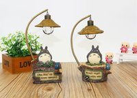 Wholesale Christmas Lightings - kawaii cartoon My Neighbor Totoro lamp led night light ABS Reading Table Desk Lamps for kids Gift Home Decor novelty lightings