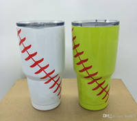 Wholesale Baseball Softball Mugs Insulation valuum Cup Tumbler rambler OZ Cups cooler Beer yetis Mugs