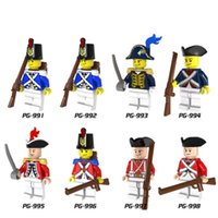 Wholesale Plastic Soldiers - Building Blocks Minifigures Action Bricks Imperial Navy Series Soldiers Governor RoyalNavy Kids Christmas Gift DIY Toys 8pcs set PG8035