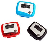 Wholesale Function Step - Free shipping 300PCS Pocket LCD Pedometer Mini Single Function Pedometer Step Counter Health Use Counter Jogging Running