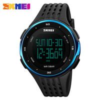 Wholesale Skmei Watches - SKMEI 1219 Digital Wristwatches Men Outdoor Sport Watches Chronograph Fashion Clock PU Band Waterproof Relogio Masculino Watch
