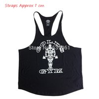 All'ingrosso- Stringer Tank Tops Uomini Singlets Fitness Regata Shirt Sleeveless Bodybuilding Abbigliamento Undershirt Workout Vest