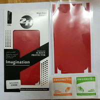 iphone geri koruyucusu mat toptan satış-En Kaliteli Popüler Kırmızı Mat Metalik arka kapak ve kenar Çıkartmalar cilt Cep Telefonu Koruyucu Ekran Kapak için iphone8 8 artı 5 6 splus 7 artı