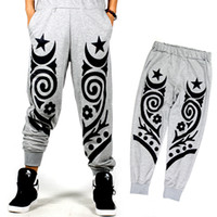 Wholesale Totem Pants - Wholesale- Men Plus Size Totem Printed Jogger Pants Mens Casual Sweatpants New 2017 Hiphop Street Dance Pants Elastic Waist Free Shipping