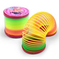 Wholesale Funny Colorful Rainbow Plastic Magic Slinky Children Classic Development Toy
