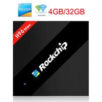 Wholesale C Media Player - H96 Max 4GB 32GB Rockchip RK3399 Six Core Android 7.1 TV Box 2.4 5.8G WiFi BT4.0 H.265 4K 1000M LAN USB3.0 KD 17.3 Type-C Media player