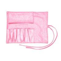 Wholesale Professional Make Up Belts - Wholesale-Hot Protable Make Up Bag Cosmetic Brush Bag Makeup Holder Professional PVC Apron Bag Artist Belt Strap
