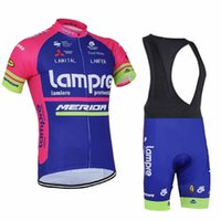 Wholesale Cycling Jersey Shorts Warmers - Lampre 2017 Tour De France Cycling Jerseys Set Cycling Wear With Bib Shorts Cycling Clothes Bike Bicycle Arms Shoes Cover Leg Warmer SIZE XS