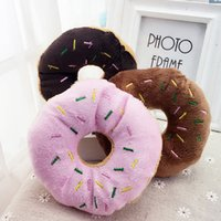 Wholesale Donut Dog Toy - New Arrival Plush Dog Cat Sound Toy Donut Shape include BB Squeak Pet Dog Squeak Toys