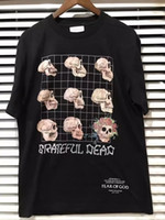 Wholesale Metal Crow - 2017 Fear Of God Grateful Dead Fourth Collection Resurrected Vintage Heavy Metal Rock Summer Short Sleeve Cotton T-shirt Tee