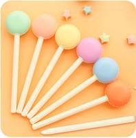 Wholesale Macaron Pen - Wholesale-B15 2X Cute Candy Macaron Gel Pen Student Writing Pens School Office Supply Stationery Promotion Gift Rewarding