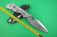 cuchillo plegable cnc strider al por mayor-Envío gratis Nuevo 8 '' CNC negro G-10 mango Strider SMF SNG plegable cuchillo de bolsillo FD02