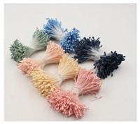 Wholesale Beam Decorations - 1 beam = (360PCS) Artificial flower double-headed matte stamens DIY craft party decoration flowe