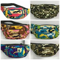 Camouflage Waist Packs Imprimé Militaire Ceinture Sac Outdoor Mountain Climbing Sports Fanny Packs Téléphone Case Pocket Messenger Bag YYA168