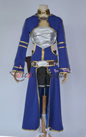 Wholesale Online Games Girls - Sword Art Online Silica ALO Cait Sith Blue Anime Cosplay Costume game girl