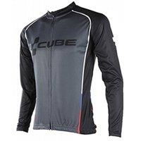 ingrosso giacche tour france ciclismo-New Cube Cycling Abbigliamento Uomo Tour de france Ciclismo Maglia manica lunga giacca mtb maillot Ropa ciclismo hombre Bicicletta Vestiti A1901